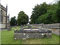 ST9253 : St. Mary, St. Katharine and All Saints, Edington: churchyard (a) by Basher Eyre
