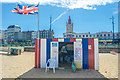 TR3571 : Deckchair hire, Margate Beach, Kent : Week 34
