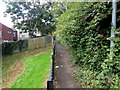 ST3089 : Metal barriers across a path above Bosworth Drive, Newport by Jaggery
