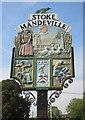 SP8310 : Stoke Mandeville Village Sign by Des Blenkinsopp