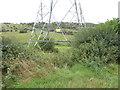 TQ2408 : Base of pylon at Mileoak Barn by Shazz