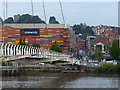 ST3188 : Newport City Footbridge by Robin Drayton