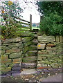 SE0719 : Stile on Elland FP59 at Beestonley Lane, Stainland by Humphrey Bolton