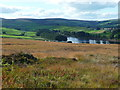 SE0136 : Lower Laithe Reservoir from Penistone Hill, Haworth by Humphrey Bolton