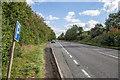 SJ5562 : Lay by on the A49 near Tarporley by David P Howard