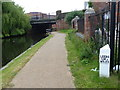 SJ3495 : Milepost along the Leeds and Liverpool Canal by Mat Fascione