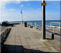 SH5700 : Path towards the sea defences, Tywyn by Jaggery