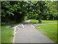 TL1596 : Footpath junction, Orton Brimbles (2) by Richard Vince