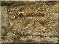 SK7039 : Bench mark and bolt, St Mary's Church, Bingham by Alan Murray-Rust