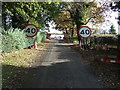 SJ7384 : Roadworks on Millington Lane by JThomas