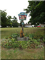 TL8720 : Feering Village sign on The Green by Adrian Cable
