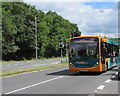 ST2583 : Number 30 bus on the A48, Castleton by Jaggery