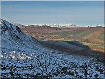 NH3252 : The frozen south flank of Strathconon above Milton by Julian Paren