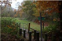SU9890 : Footpath crossing near Layters Green by Robert Eva