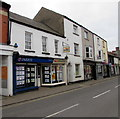 SO3700 : Parrys estate agents and  Monmouthshire Building Society agency,  Usk by Jaggery