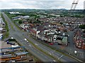 ST3186 : The view to the south-west from Newport Transporter Bridge by Robin Drayton