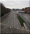SO9669 : From two tracks to four tracks, Bromsgrove railway station by Jaggery