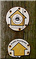 SO9669 : Monarch's Way public footpath sign, Bromsgrove by Jaggery