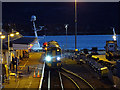 NG7627 : A train for Inverness and Elgin stands at Kyle of Lochalsh : Week 49