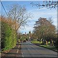 TL4346 : Thriplow: School Lane in December by John Sutton