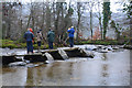 SS8632 : West Somerset : Tarr Steps & River Barle by Lewis Clarke