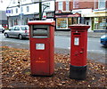 SJ7054 : George V postbox and Elizabeth II business postbox on Nantwich Road. Crewe by JThomas