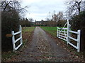 SJ5260 : Driveway to cottage, Brassey Green by JThomas