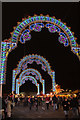 TQ2880 : Archway at Winter Wonderland, Hyde Park, London by Christine Matthews