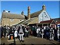 TL2696 : Pig Dyke Molly dancing at The Boat - Whittlesea Straw bear Festival 2017 by Richard Humphrey