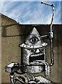 "SK3385 : Detail of mural by ""Phlegm"" on Snuff Mill Lane (I) : Week 5"