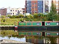SJ8498 : Narrowboat reflections by Gerald England