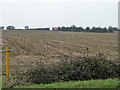 TQ4891 : Ploughed field south of Romford Road (B174) by Robin Webster