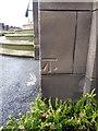 SP0589 : OS benchmark - Gib Heath, entrance to King Edward VI school by Richard Law