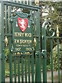 SK7519 : Commemorative plaque, New Park gates by Alan Murray-Rust