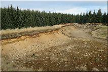 NJ2348 : Sand Quarry by Anne Burgess