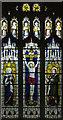 TL4965 : St John the Evangelist, Waterbeach - Stained glass window by John Salmon