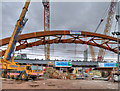 SJ8297 : Ordsall Chord, Construction of New Rail Bridge (Feb 2017) : Week 8