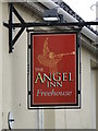 TM4679 : Hanging sign of 'The Angel' public house by Adrian S Pye