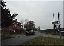 SP9835 : Eversholt Road at the junction of Cobblers Lane by David Howard