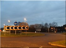 TL0834 : Roundabout on the A6, Silsoe by David Howard