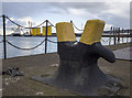 J3676 : Bean bollard, Belfast Dry Dock by Rossographer