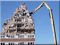 SJ9894 : Hattersley multi-storey flats demolition : Week 12