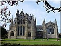 TL5480 : The eastern facade of Ely Cathedral in Cambridgeshire by Richard Humphrey