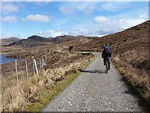 NG8879 : Rounding the southern end of Loch Kernsary by Richard Law