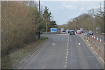 TL4259 : M11 turning off Madingley Rd by N Chadwick