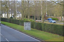 TL4059 : Approaching Cambridge American Cemetery by N Chadwick