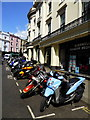 TQ3080 : Parked motor cycles in Adelaide Street, WC2, London : Week 16
