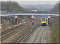 SK6113 : Class 222 009 beneath bridge SPC5/43 on the down fast line by Andrew Tatlow