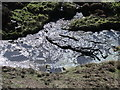 NY9049 : Beldon Burn at its confluence with Heathery Burn by Mike Quinn