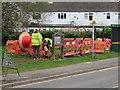 SU5750 : Men at work - Oakley Lane by Scriniary